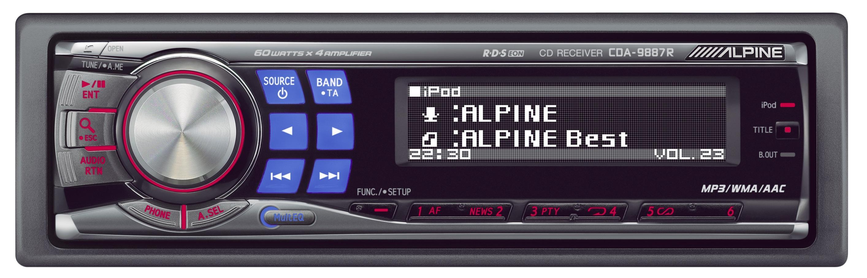 автомагнитола alpine cde 9881r инструкция пользователя